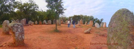 Almendres Cromlech is the biggest megalithic site in the Iberian Peninsula