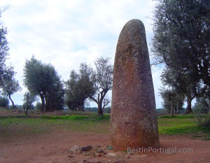 Menir dos Almendres in the Almendres Cromlech by BestInPortugal.com